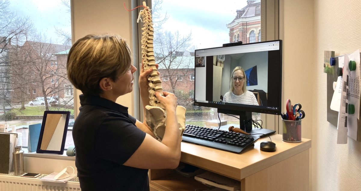 Videobehandlung in der Physiotherapie: Wir sind auch zuhause für Sie da!